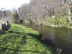 Walks along the river - just 30 seconds away from the bothy.