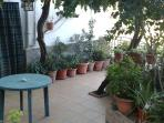 terraza en verano