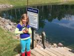 Catch and release fishing! bluegill, black crappie, and largemouth bass