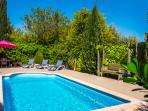 La Fleurie private pool and walled garden