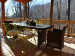 Enjoy lunch on the covered dining porch