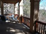 Large covered patio to enjoy a BBQ or the wildlife in the area