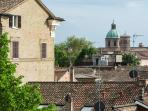 The roof terrace view on Ravenna Cathedral