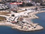 location of the apartment, just 50 metres away from the beach Znjan