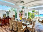 Sparkling ocean views from dining area