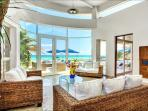 Floor to ceiling windows allowing spectacular views
