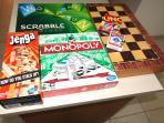 English board games are provided; including Jenga, Scrabble, Monopoly, Uno, chess