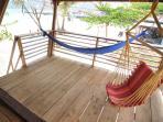 Hang or swing in the 1st floor breeze.