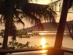 Sunrise can be enjoyed from bed or balcony )