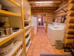 Pantry with washer, dryer, and second refrigerator