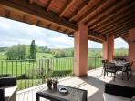 Covered Patio with hills view