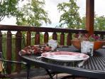 Upper level deck -breakfast anyone?