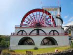 Largest working waterwheel in the world..Laxey Wheel...climb to the top for a view!