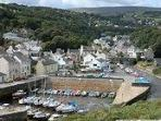 Laxey Harbour adjacent to the Apartment (not visible here) looking up valley
