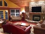 relax/entertain in this large yet cozy great room right off the kitchen/bar area!  from all points!