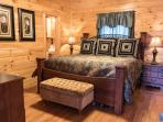 Main Level Bedroom: King Bed, Pillow Top Mattress, Ceiling Fan, private Bath with Tub/Shower Unit.