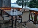 Back deck in the evening