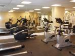 Great Gym located right in the Azure complex - for your use!!