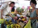 shopping in open market