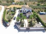 Drone shot of Villa
