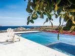 Mykonos Villa pool view