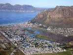 Aerial view of Marina da Gama with world-class beach, mountains, quaint shops and great restaurants