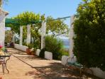 Vine shaded terrace