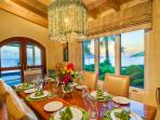 Dining with spectacular views out the window