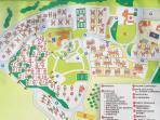 piantina del resort