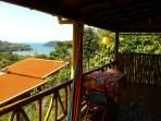 Chalé Amarelo- Yellow cottage- amazing sea view from the balcony.