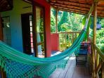 Chalé Vermelho- Red cottage- the big balcony. Come and enjoy this hamack!!!