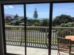 View of the ocean and Kapiti Island from inside