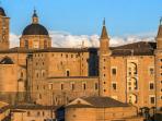 Castelbarco is 10 minutes from Urbino's center, Ideal Renaissance City, World Patrimony UNESCO Site