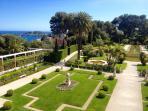 Villa Ephrussi Rothschild on Cap Ferrat. Lunch facilities, amazing gardens. Rose festival in May