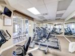 Stay active at the fitness center!