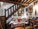 Living Room with the collection of reproductions of great painter ANNIGONI