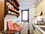Fully equipped Kitchen : are available new two fast hobs,microwave,fridge.