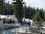 Shared Outdoor Pool and Hot Tub Winter