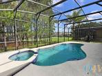 Beautiful large Pool and Spa area with woodland view