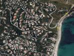 Localisation de la location par rapport à la mer