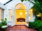 Open doors onto the private garden