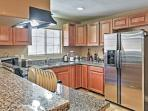 This kitchen is fully equipped with everything you need to prepare your favorite meals.