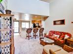 Plenty of comfortable seating arrangements for everyone in this inviting living area