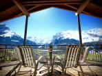 Apartment C  Covered Front Balcony with Breathtaking Panoramic Views over Engelberg