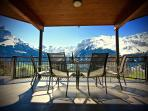Apartment A  Covered Front Balcony with Breathtaking Panoramic Views over Engelberg