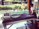 Blissful massage at the villa