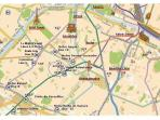 MAP OF THE AREA, Walking distance to the Eiffel Tower, the Seine River. Metro /bus stops 2 minutes