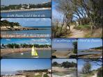 La plage de Nauzan et chemin des Douaniers le long de la Côte.