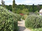 Take a wander through the lavender and rosemary bushes.