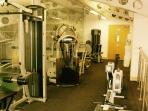 Leisure centre gym.